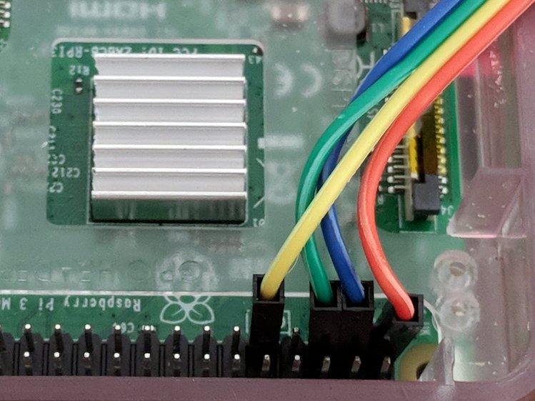 RPi I2C OLED - RPi header detail