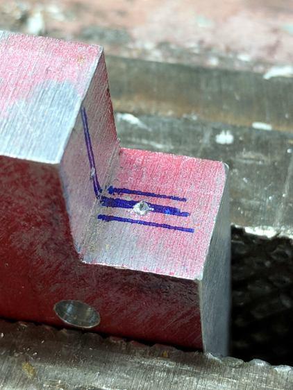 Magnifying Lamp Pivot - hole marking