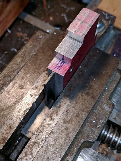 Magnifying Lamp Pivot - drill press alignment