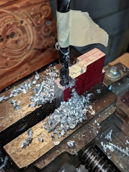 Magnifying Lamp Pivot - drilling
