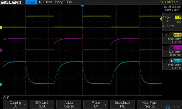 NPN - 100 Hz - 2.2k 2.2k 2x78nF - Vc Vcap
