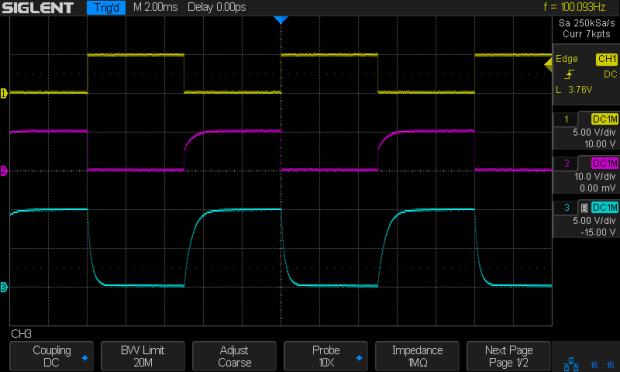 NPN - 100 Hz - 2.2k 2.2k 78nF - Vc Vcap