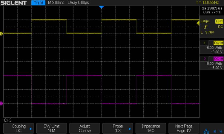 NPN - 100 Hz - 2.2k - no cap - Vc