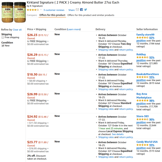 Amazon - unit pricing consistent FAIL