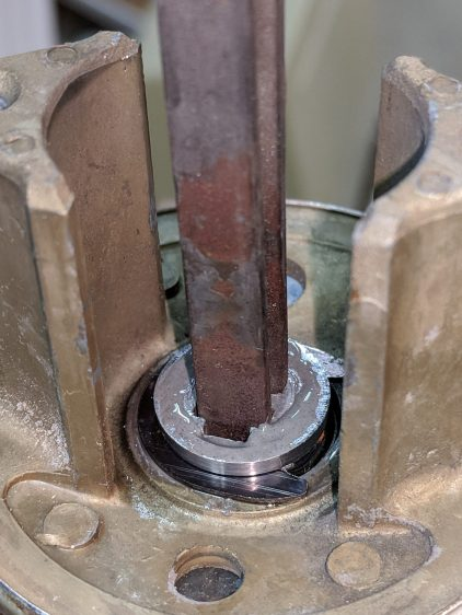 Doorknob - retainer ring epoxy
