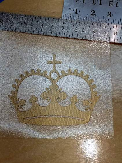 First Vinyl Crown - transfer film