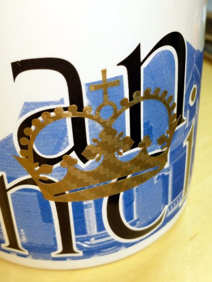 MPCNC Vinyl Cutting - crown on mug