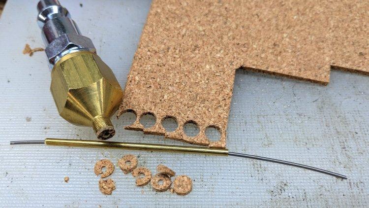 Badger Propel air fitting - DIY cork washers