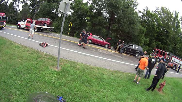 Rt 376 Collision Scene - overview - 2018-09-21