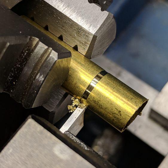 Collet Holder - brass shim cutoff