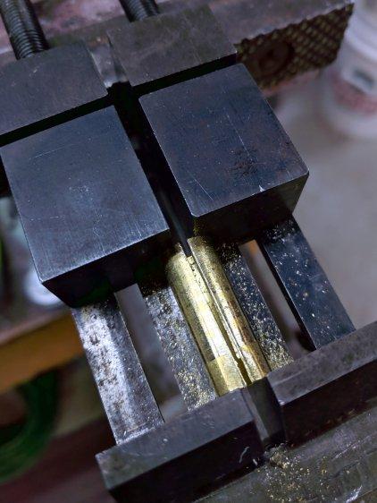 Collet Holder - brass shim slitting
