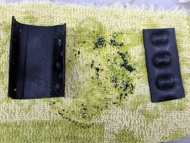 Michelin ProTek tube - rubber fragments