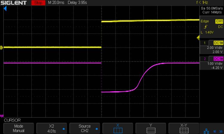 Astable - 2N7000 pulse detail