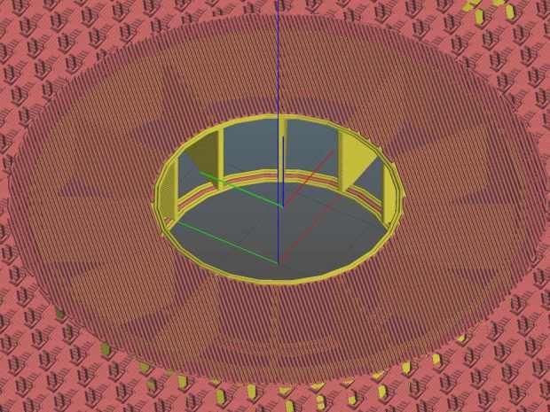 Can Lid Platform Feeder Mount - Slic3r - bridge layer