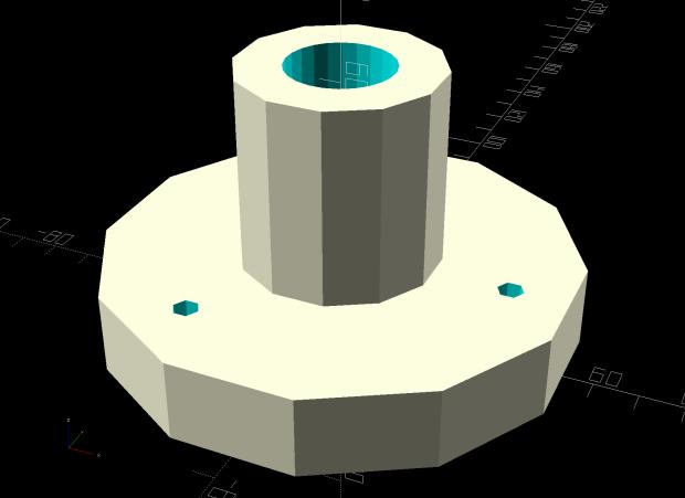 Can Lid Platform Feeder Mount - solid model - bottom