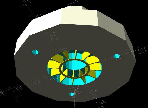 Can Lid Platform Feeder Mount - solid model - support structure