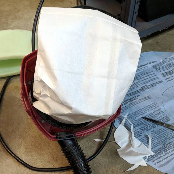 Shopvac vs Samsung vacuum cleaner bags - trial fit