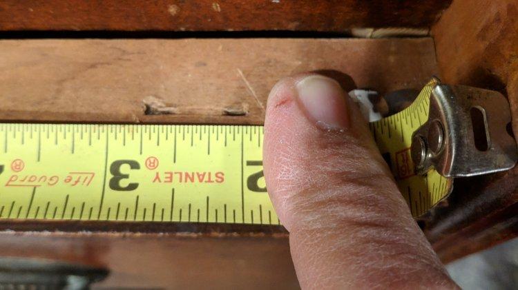Drawer Stops - width measurement