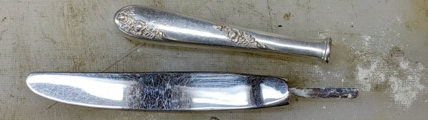 Sterling knife repair - powdered cement