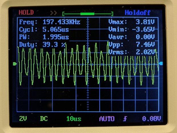 DSO150 - square wave 200 kHz 10 us-div