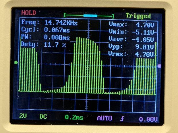 DSO150 - pulse 15 kHz 200 us-div