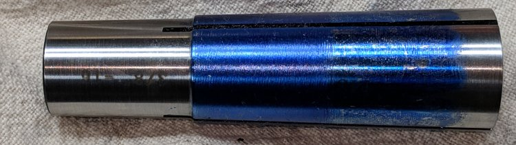 Minilathe - MT3 collet - filed result