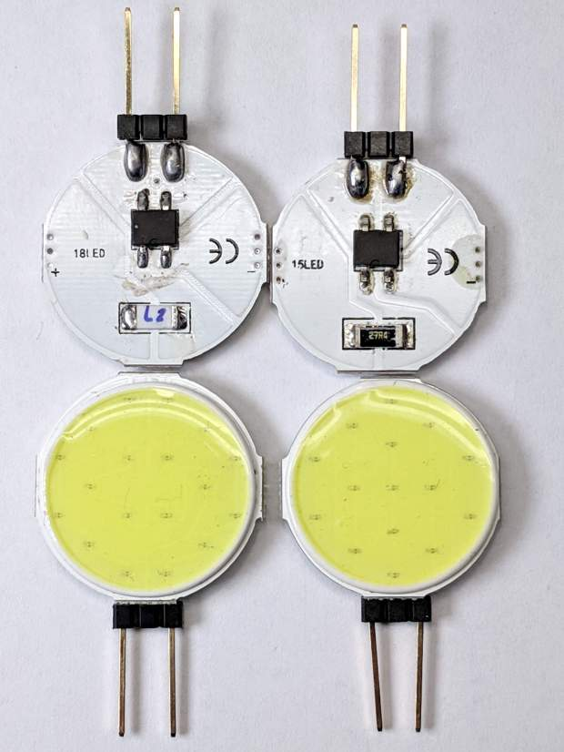 G4 COB LEDs - 15 and 18 LED modules