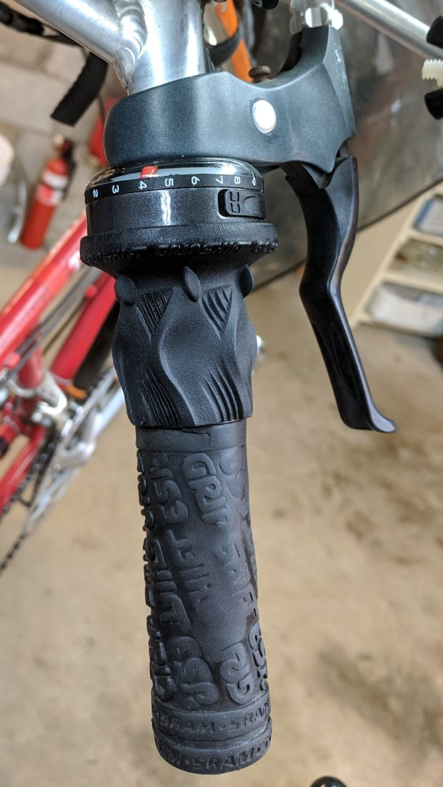 Tour Easy - SRAM X.0 grip shifter installed