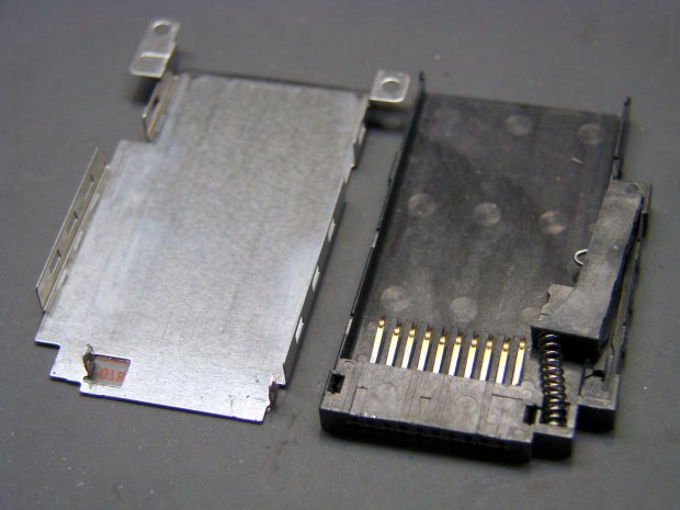 DSC-F717 - opened Memory Stick socket