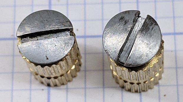 Kenmore screws - smoothed