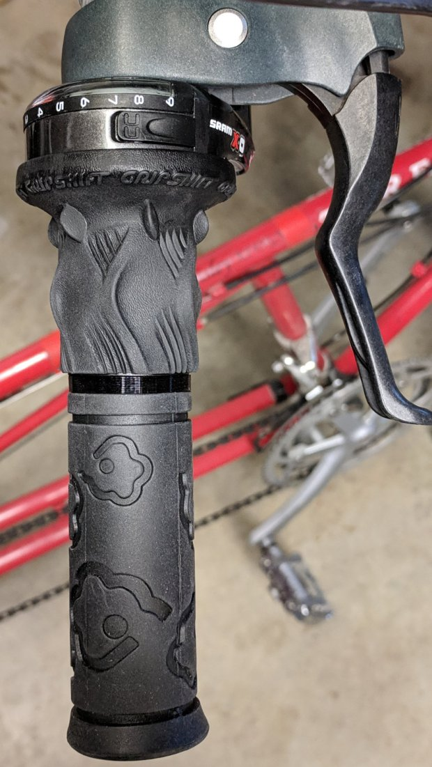 Tour Easy - SRAM X.0 grip shifter - new grip with bushing