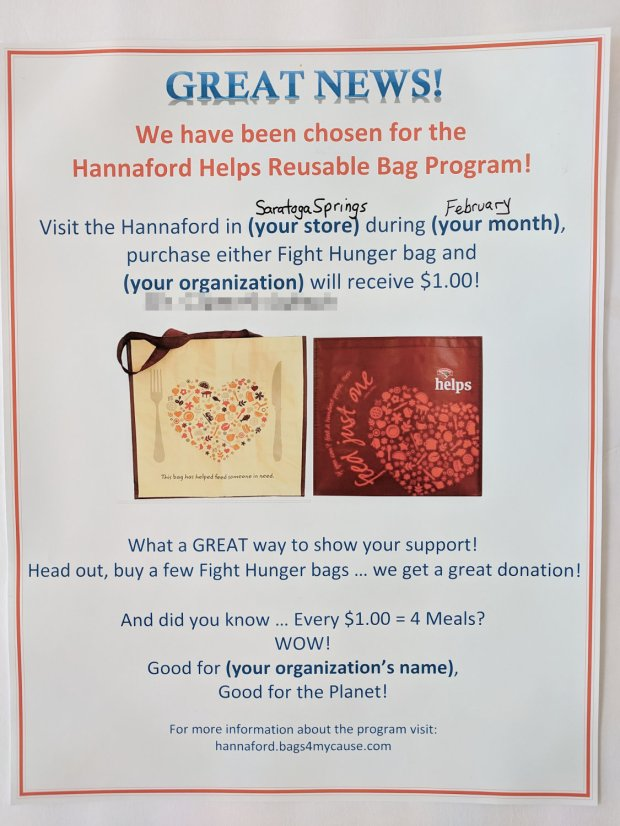 Hannaford Reusable Bags - Poster Boilerplate
