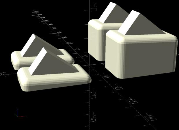 Patio Side Table Feet - OpenSCAD model
