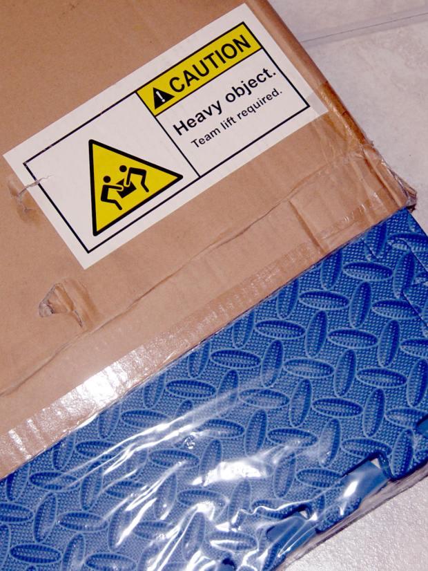Heavy Object Team Lift - foam floor mats