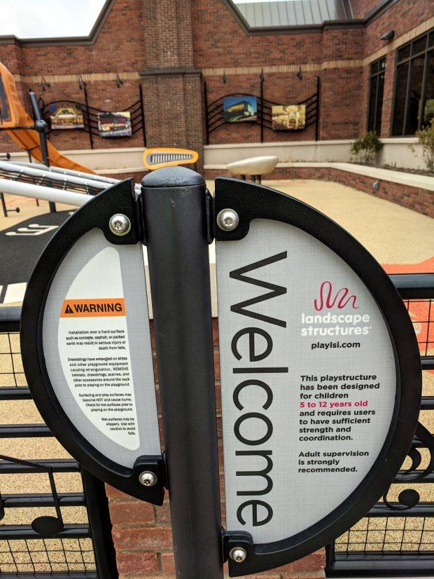 NYS Thruway rest area playground