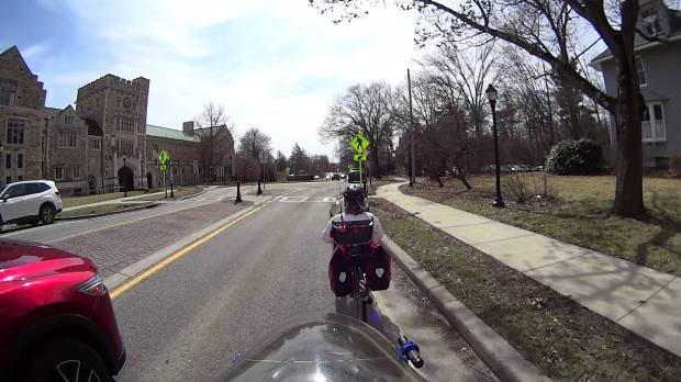 Raymond Ave - passing into Main Gate roundabout - helmet 1 - 2019-03-28