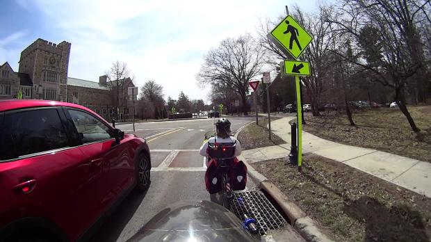 Raymond Ave - passing into Main Gate roundabout - helmet 2 - 2019-03-28
