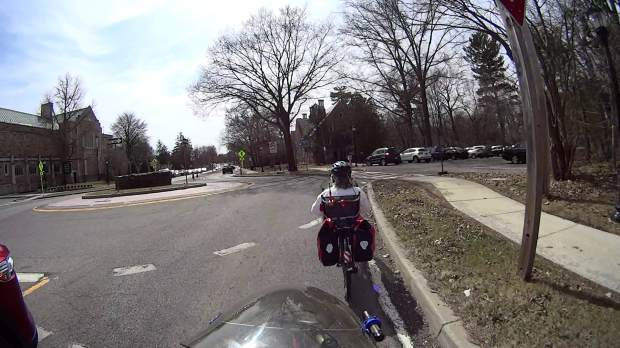 Raymond Ave - passing into Main Gate roundabout - helmet 3 - 2019-03-28