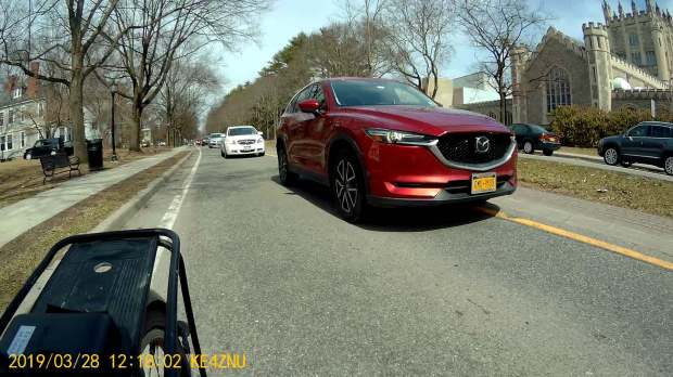 Raymond Ave - passing into Main Gate roundabout - rear camera - 2019-03-28
