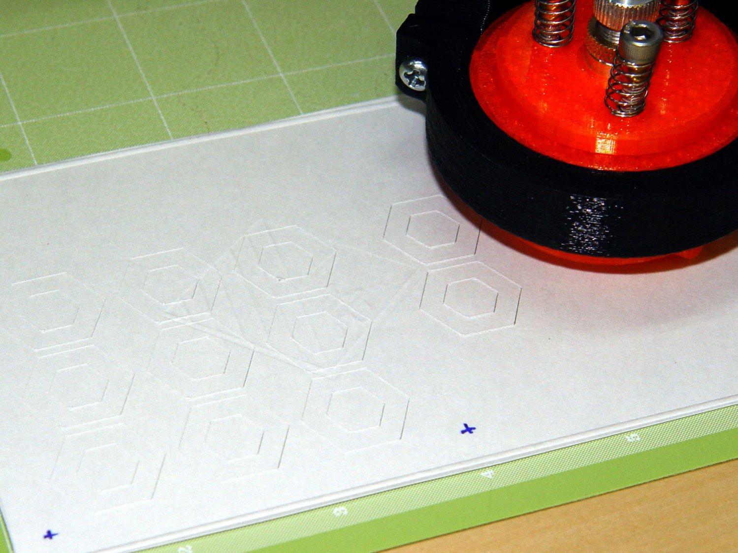 Drag Knife - hexagon depth setting