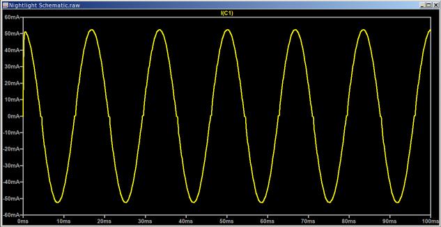 Nightlight - OFF - 820 nF cap current