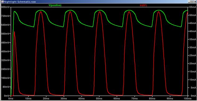 Nightlight - OFF - transistor current