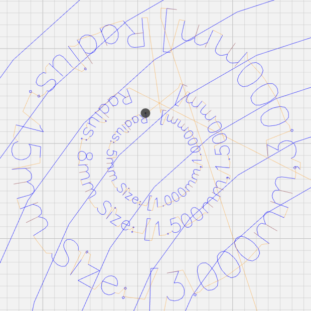 Arc Lettering - Small radius test - NCViewer