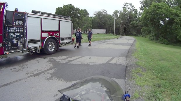 Fire Department Practice - Hose Engine