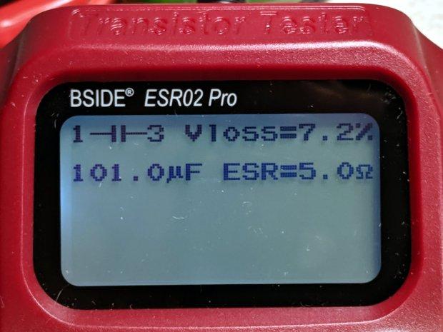 Dell U2711 Monitor - 100 uF 5 ohm cap