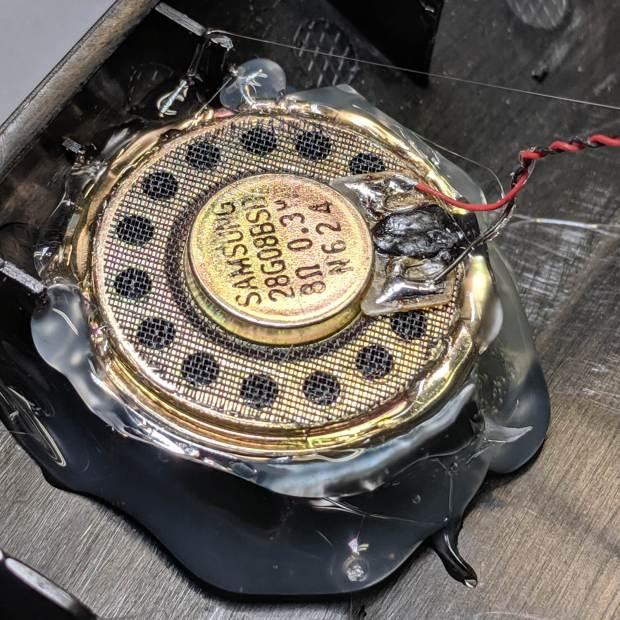 Ooma Telo 2 - replacement speaker installed