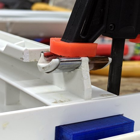 Whirlpool Refrigerator - drawer support gluing