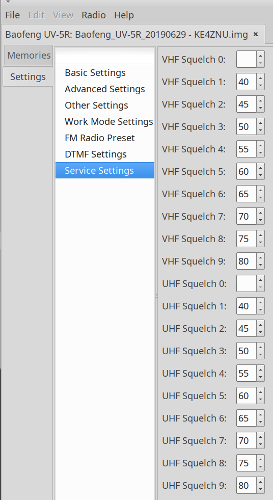 Baofeng UV-5R - Improved Squelch Settings