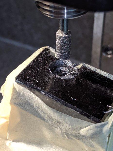 Lathe Cutoff Tool - clearing screw recess