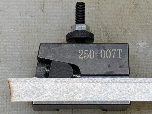 Lathe Cutoff Tool - blade view